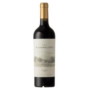 Blaauwklippen Malbec 2019 Bottle