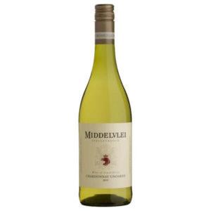 Middelvlei Unoaked Chardonnay 2019 Bottle
